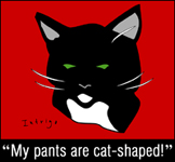 My pants are cat-shaped