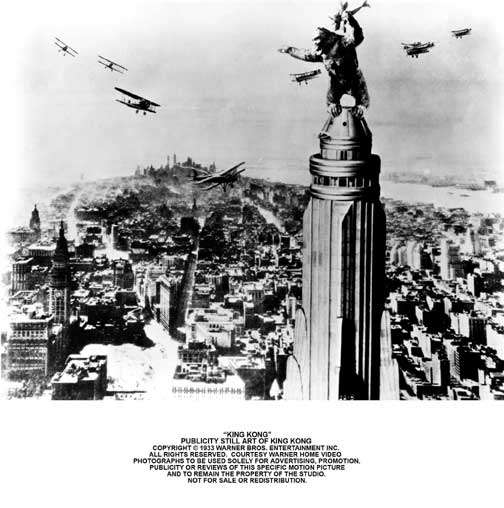 Publicity Photo King Kong on Empire State Building